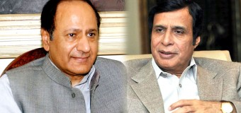 Ch Shujat Hussain and Parvez Elahi felicitate Chief Justice SHC and Pak Army