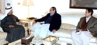 چودھری شجاعت حسین اور پرویزالٰہی سے متحدہ عرب امارات کے سفیر کی ملاقات