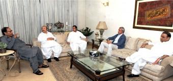 پاکستان مسلم لیگ لاہور ریلی میں شامل ہو گی: چودھری شجاعت حسین، پرویزالٰہی سے تحریک انصاف کے وفد کی ملاقات