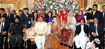 پاکستان مسلم لیگ کے سینئر مرکزی رہنما و سابق نائب وزیراعظم چودھری پرویزالٰہی کی سعودی شاہی خاندان کے ذاتی معالج ڈاکٹر خالد بخش کی صاحبزادی کی شادی میں شرکت