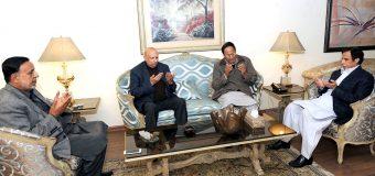 چودھری شجاعت حسین اور پرویزالٰہی سے چودھری سرور اور محمود الرشید کا اظہار تعزیت