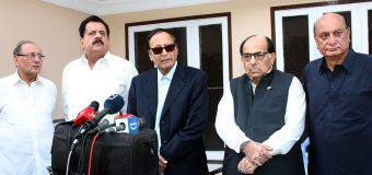 We are with you: N-League leader Zafar Ali Shah's announcement after meeting with Ch Shujat Hussain