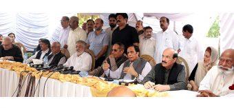 الیکشن کمیشن اور نگران حکومت کے اقدامات منصفانہ الیکشن کی طرف نہیں جا رہے: پیر پگاڑا، چودھری شجاعت حسین، پرویزالٰہی، غوث علی شاہ