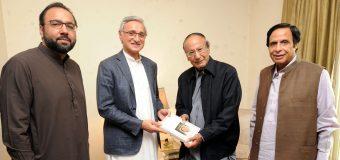 Jahangir Tareen calls on Ch Shujat Hussain and Parvez Elahi