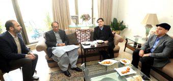 چودھری شجاعت حسین سے ایرانی قونصل جنرل محمد رضا ناظری کی ملاقات