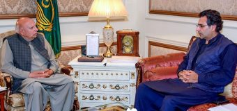 MNA Moonis Elahi meets Governor Muhammad Sarwar