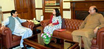 چودھری پرویزالٰہی سے نیپال کی سفیر سیوا لمسال ادھیکاری کی ملاقات