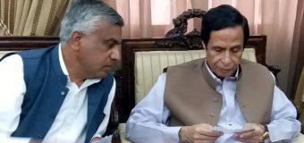 چودھری پرویزالٰہی سے مسلم لیگی رہنما چودھری سلیم بریار کی ملاقات