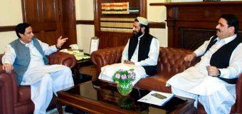 چودھری پرویزالٰہی سے چیئرمین آل پاکستان ٹرانسپورٹ شہزاد اعوان ایم پی اے کی ملاقات