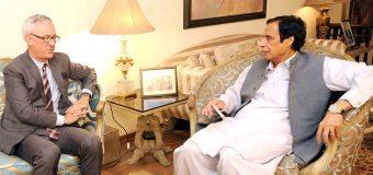 US Political Consular Theodore Craig calls on Speaker Ch Parvez Elahi