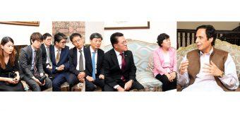 South Korean Ambassador and parliamentary delegation call on Ch Parvez Elahi