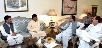 Former MPA Ayub Khan Saldera and other leaders call on Ch Parvez Elahi and announce joining Pakistan Muslim League