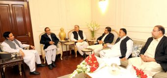 Provincial Ministers call on Ch Shujat Hussain and Parvez Elahi, Inquire about welfare