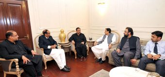 Chief Minister Punjab Usman Buzdar calls on Ch Shujat Hussain and Ch Parvez Elahi, political situation discussed