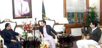 Chief Minister Usman Buzdar, Ch Parvez Elahi and Moonis Elahi meet, condemn riots at PIC