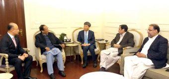 South Korea Ambassador calls on Ch Shujat Hussain and Parvez Elahi