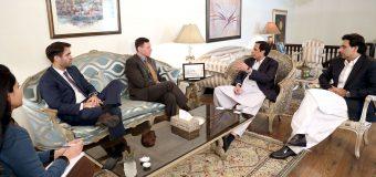 Senior US diplomats call on Ch Parvez Elahi and Moonis Elahi