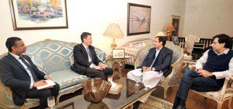 British High Commissioner Dr. Christian Turner and DFID Lahore chief Jinal Shah call on Speaker Ch Parvez Elahi and MNA Moonis Elahi