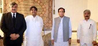 سپیکر چودھری پرویزالٰہی سے قائم مقام ایڈووکیٹ جنرل پنجاب شان گل کی ملاقات
