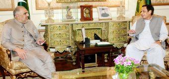 قائم مقام گورنر پنجاب چودھری پرویزالٰہی سے سپیکر قومی اسمبلی اسد قیصر کی ملاقات