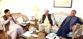 سپیکر چودھری پرویزالٰہی سے سینیٹر کامل علی آغا اور چودھری سلیم بریار کی ملاقات
