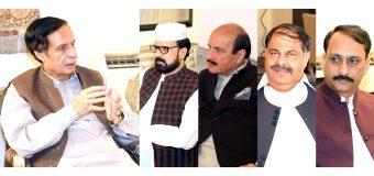 سپیکر چودھری پرویزالٰہی اور کامل علی آغا سے احمد خان کموکا ٹکٹ ہولڈر تحریک لبیک پاکستان کی ملاقات، پارٹی میں شمولیت کا اعلان