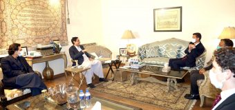 British High Commissioner Dr. Christian Turner meet Ch Parvez Elahi and Moonis Elahi