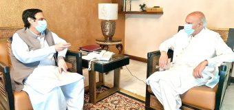 گورنرپنجاب چودھری محمد سرورسے سپیکر پنجاب اسمبلی چودھری پرویزالٰہی کی ملاقات