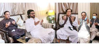 Speaker Ch Parvez Elahi extends condolences on the death of Deputy Speaker Sardar Dost Muhammad Mazari's father-in-law