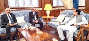 سپیکر چودھری پرویزالٰہی سے اسسٹنٹ ایڈووکیٹ جنرل پنجاب چودھری منظور احمد وڑائچ کی ملاقات